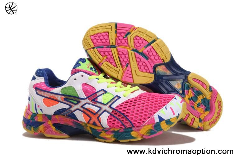 7ba9d1eb7de3 Asics Gel Noosa Tri 7 Mens Cherry Pink White Volt Royal Blue For Sale