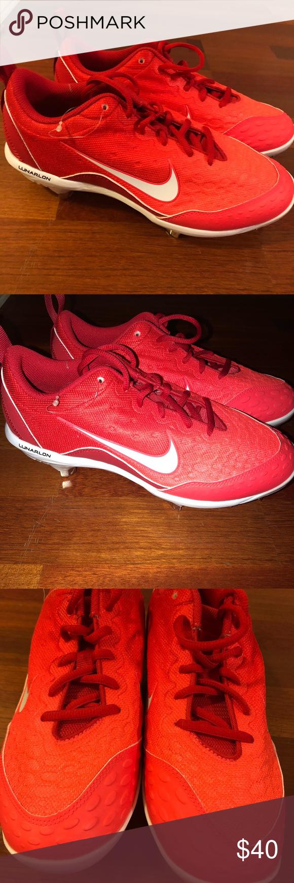 Baseball shoes, Red nike shoes, Nike