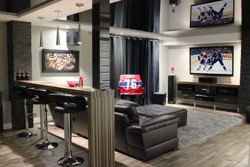 on aime l 39 ambiance feutr e clairage on ne veut pas de comptoir bar le divan est notre go t. Black Bedroom Furniture Sets. Home Design Ideas