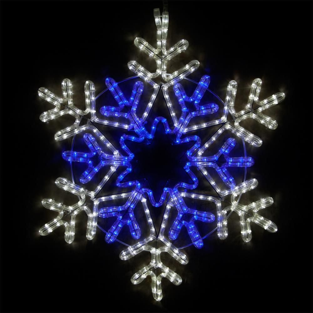 Wintergreen Lighting 28 In 407 Light Led Blue And Cool White
