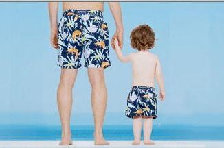 Father Son Swim Trunks Childrens Swimwear Pool Fashion Kids
