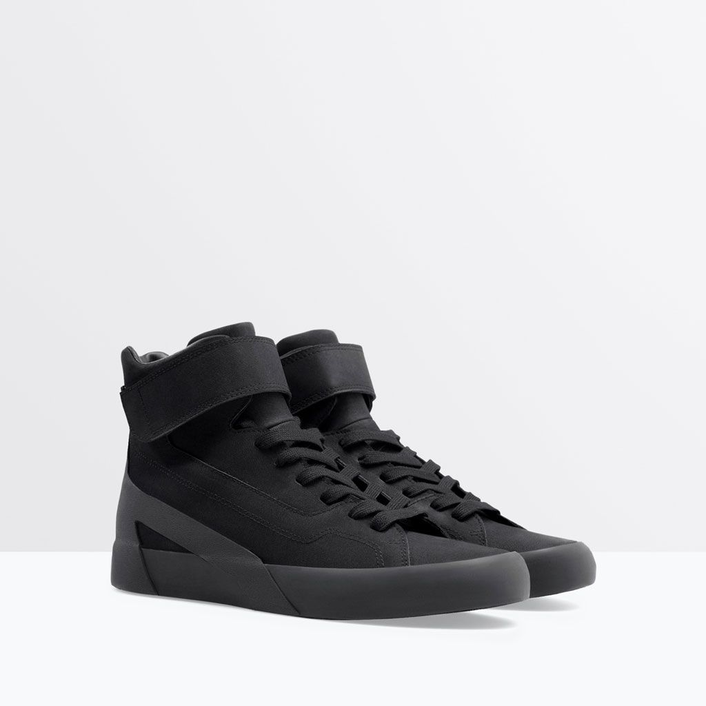 arrives new collection look good shoes sale BASKETS MONTANTES VELCRO-Baskets-Chaussures-HOMME | ZARA ...