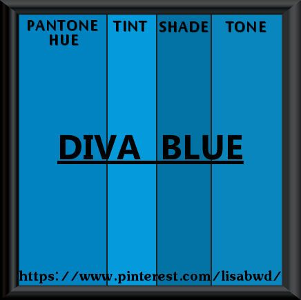 pantone seasonal color swatch diva blue | color thesaurus, color