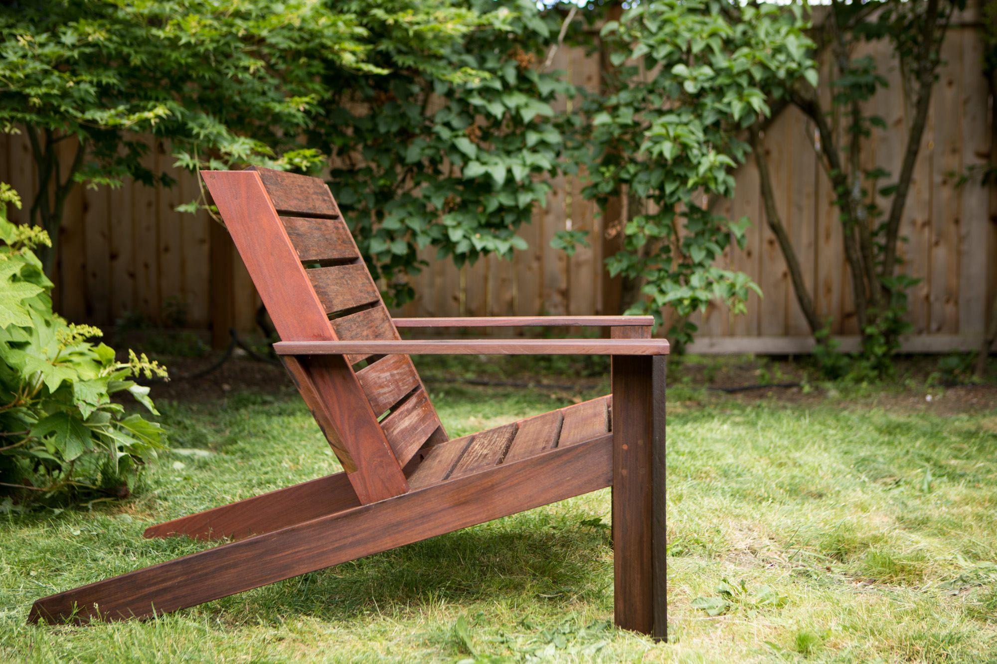 Custom Ipe Modern Adirondack Chairs Modern Adirondack Chair