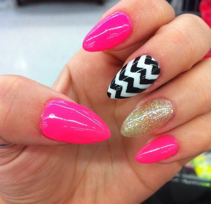 Black and Pink Nail Designs for the Best Matching With Dresses : Black And  Pink Nail Art Tutorial For Girl. pink and black nail and black nail design  ... - Pictures Of Nail Designs With Flowers Nail Art Designs