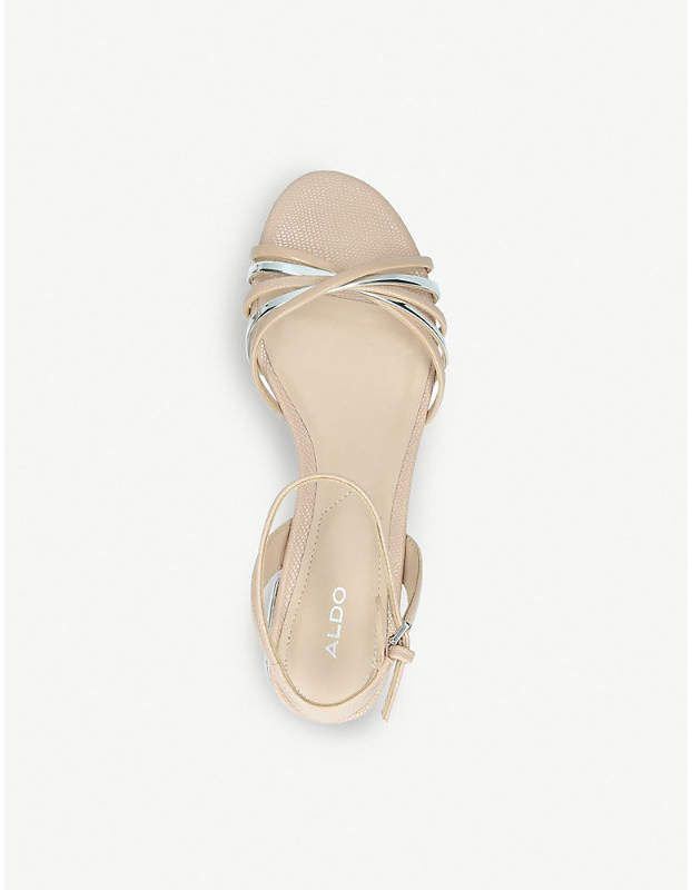 d6f5f687f7d7 Aldo Legaecia metallic-striped patent sandals  metallic Legaecia Aldo