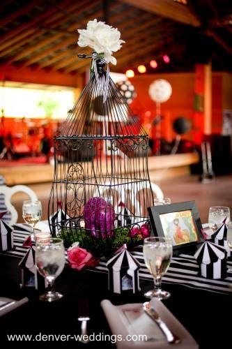 circus centerpieces | The long family style seating tables ...
