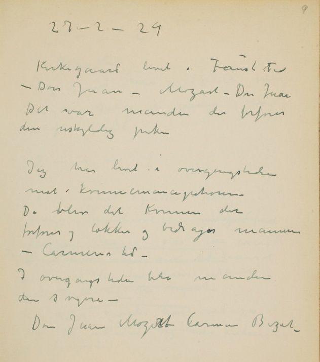 Edvard Munch om Opera