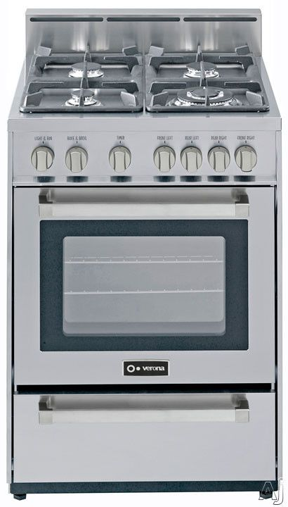 The Best 24 Inch Gas Range Of Your Choice Verona Vefsgg244ss Gas Range Stoves Range Convection Range