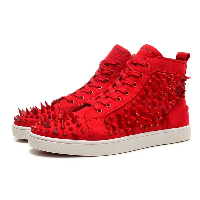 Christian Louboutin Louis Rhinestones Sneakers Red New Style