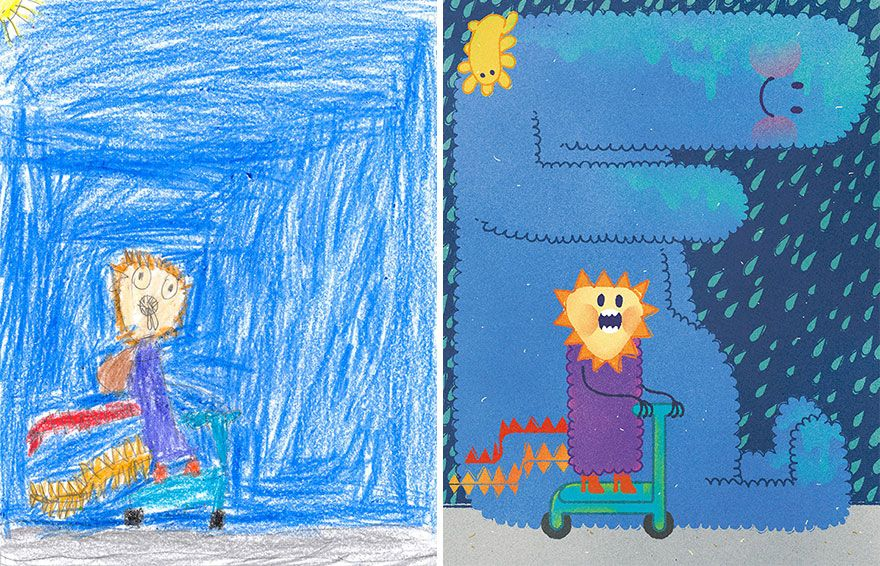 55 Artists Recreate Kids' Monster Doodles In Their Unique ...