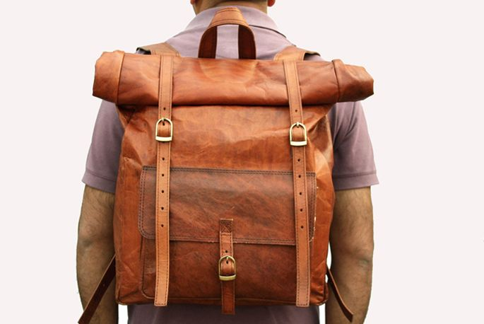 Leather Rolling Backpack | Frog Backpack