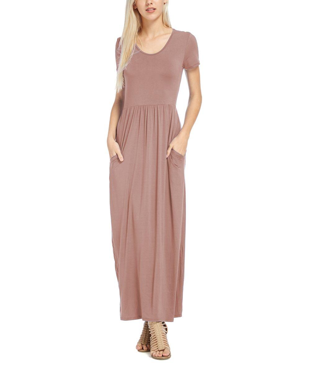 Mauve Scoop Neck Maxi Dress