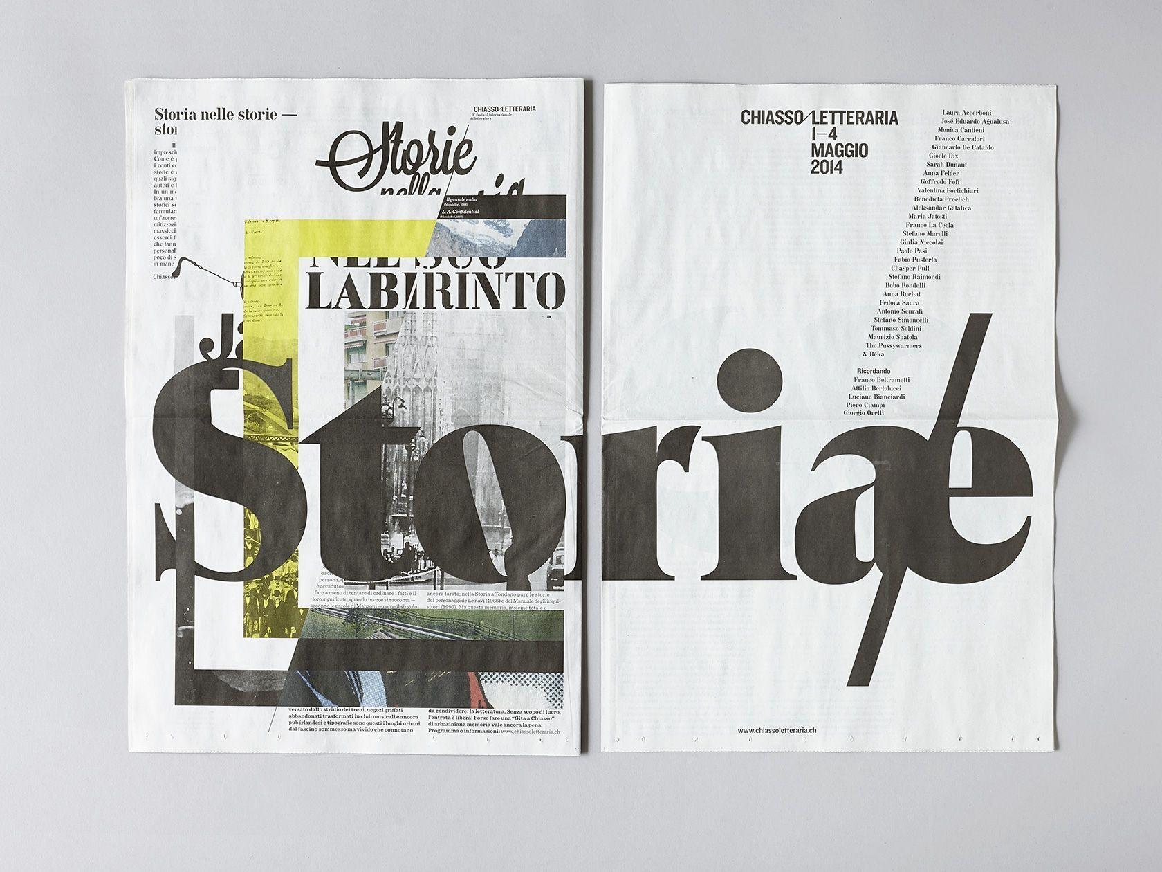 Newsprint by ccrz for ChiassoLetteraria - Storia/e