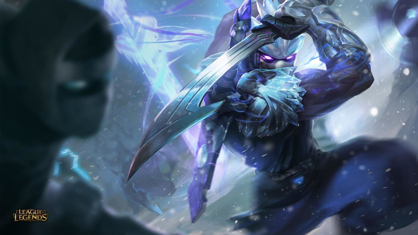 League Of Legends Frozen Shen Splash Art Xi Zhang On Artstation
