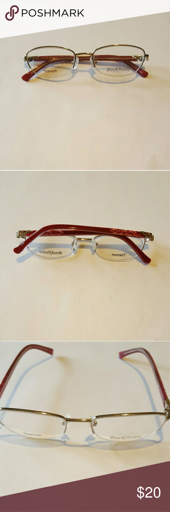 BrookPointe Glasses NWOT BrookPointe non prescription glasses.  Comes with demo lens Accessories Glasses