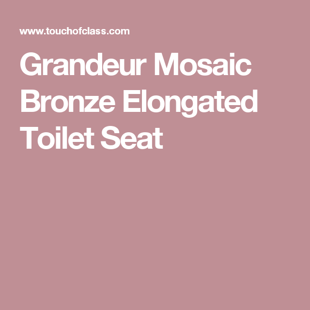 Astounding Grandeur Mosaic Bronze Elongated Toilet Seat Rusty Mirror Pabps2019 Chair Design Images Pabps2019Com