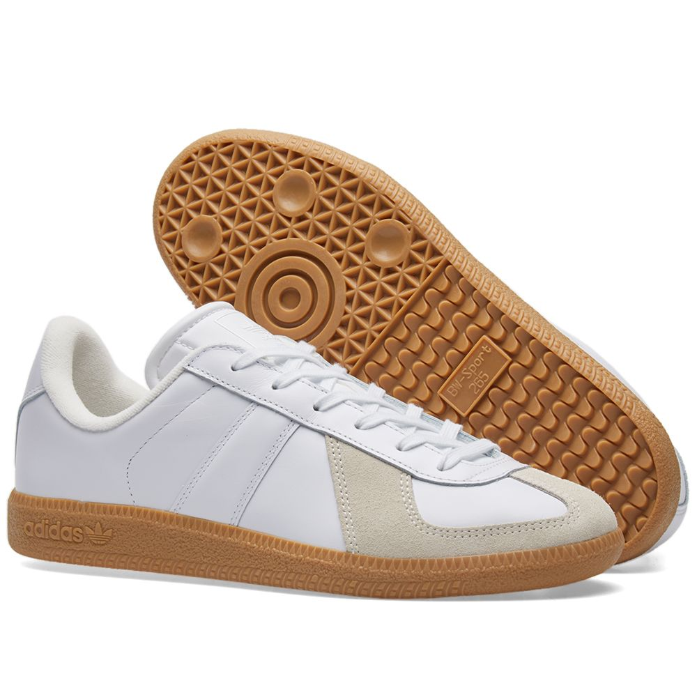 adidas Originals BW Army Men/'s Premium Leather Trainers Vintage Sneakers White