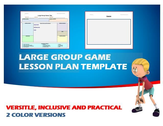 Physical Education - PE Large Group Game Editable Template Game