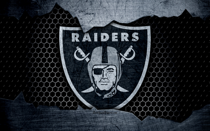 Download wallpapers Oakland Raiders, 4k, logo, NFL