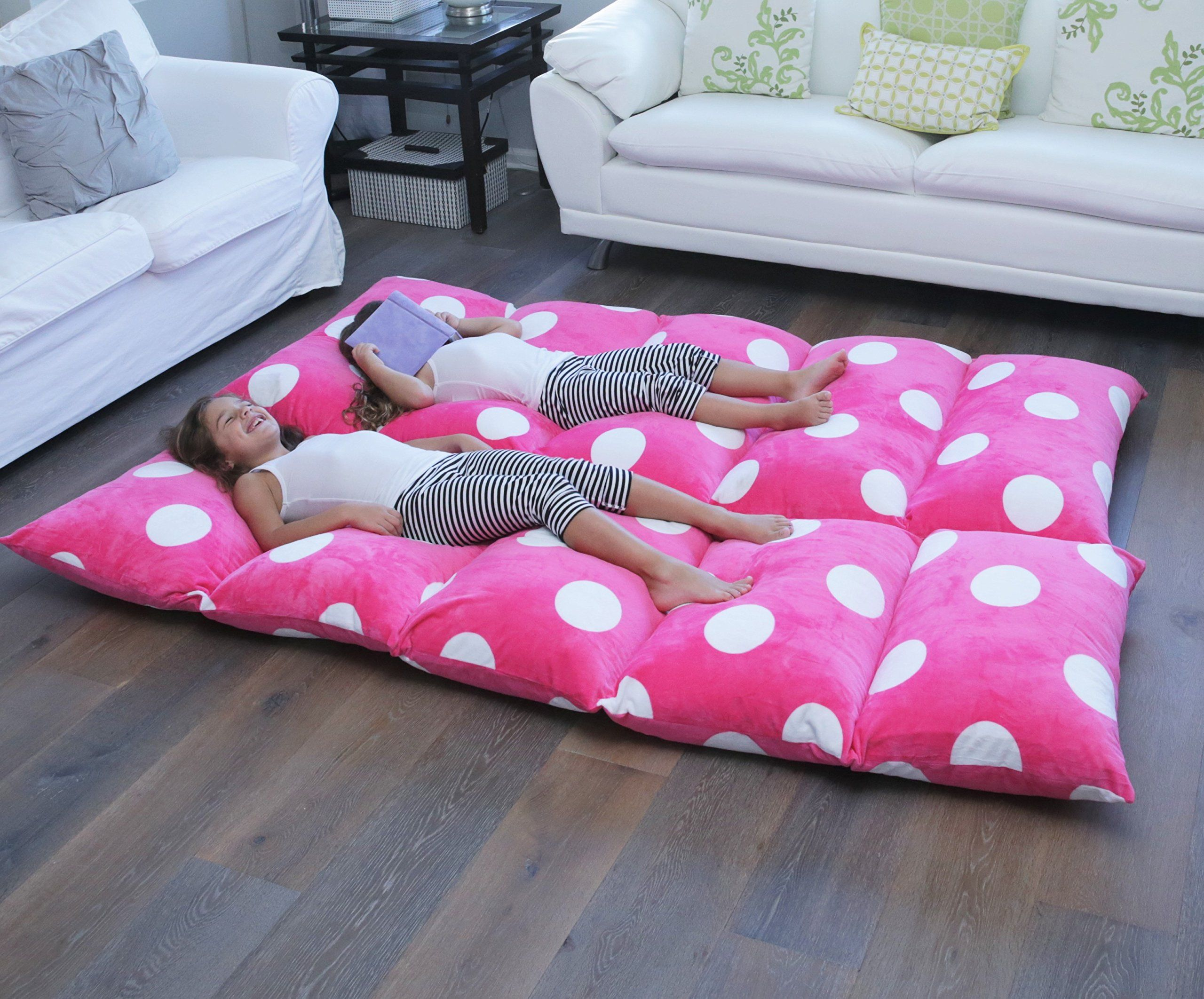 Butterfly Craze Girl/'s Floor Lounger Seats Cover and Pillow Made of Super...