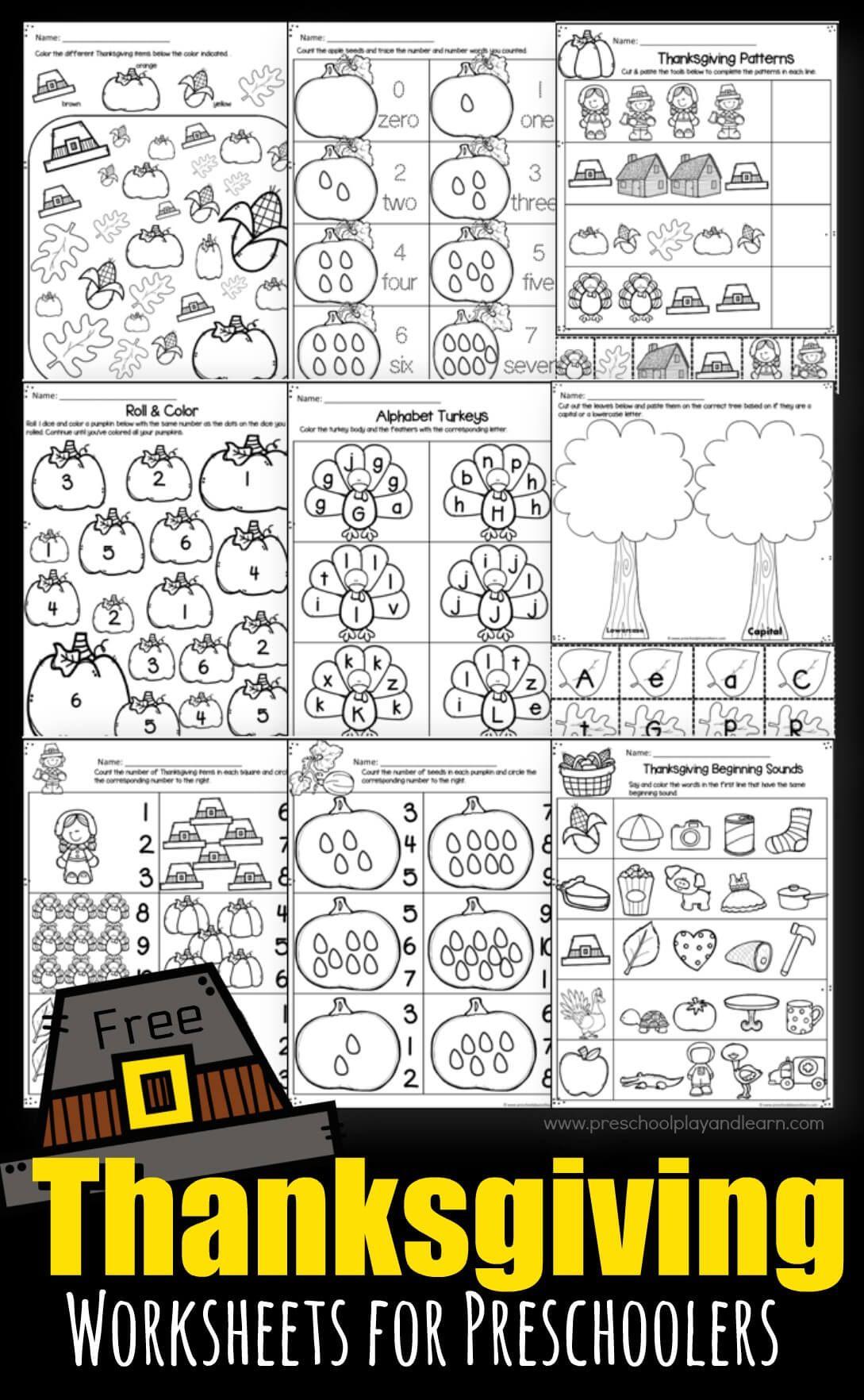 Predownload: Thanksgiving Worksheets For Preschoolers Thanksgiving Worksheets Thanksgiving Math Worksheets Preschool Worksheets [ 1764 x 1089 Pixel ]