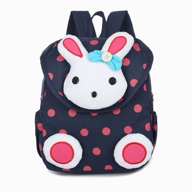 New Hot sale Cute 3D Dot Rabbit Toddler backpack softback korean mini  Schoolbag Kids kindergarten baby girls Gifts Mochila 1-3 Review a3e0a982894e6