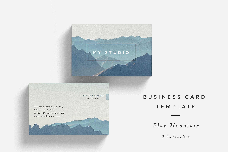 blue mountain business card template titlesreplacechangelogos - Business Card Titles