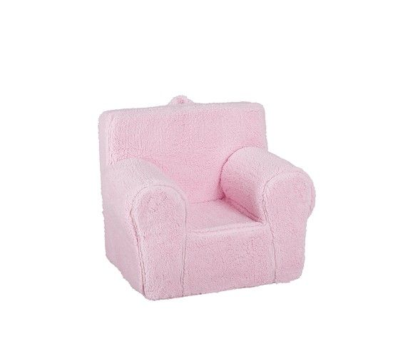 Pink Sherpa Anywhere Chair | Pottery Barn Kids