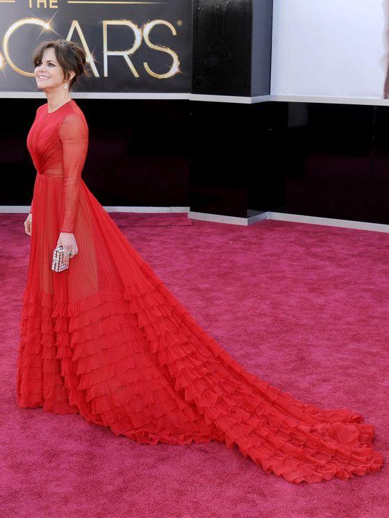 Sally Field arrive aux Oscars, le 24 février 2013.