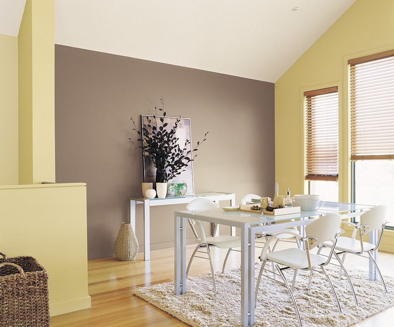 Brown, Yellow And White Interior   Inspirations Paint