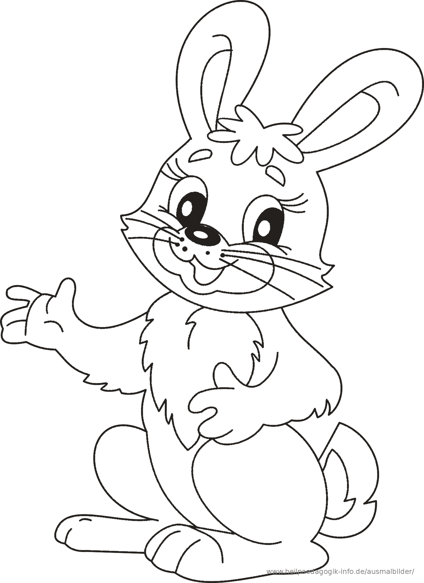 Bunny coloring pages, Easter bunny colouring, Kids ...