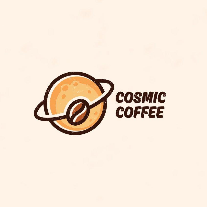 Coffee Bean Orbit Logo Design Cafe Logo Design Coffee Logo Coffee Shop Logo Design