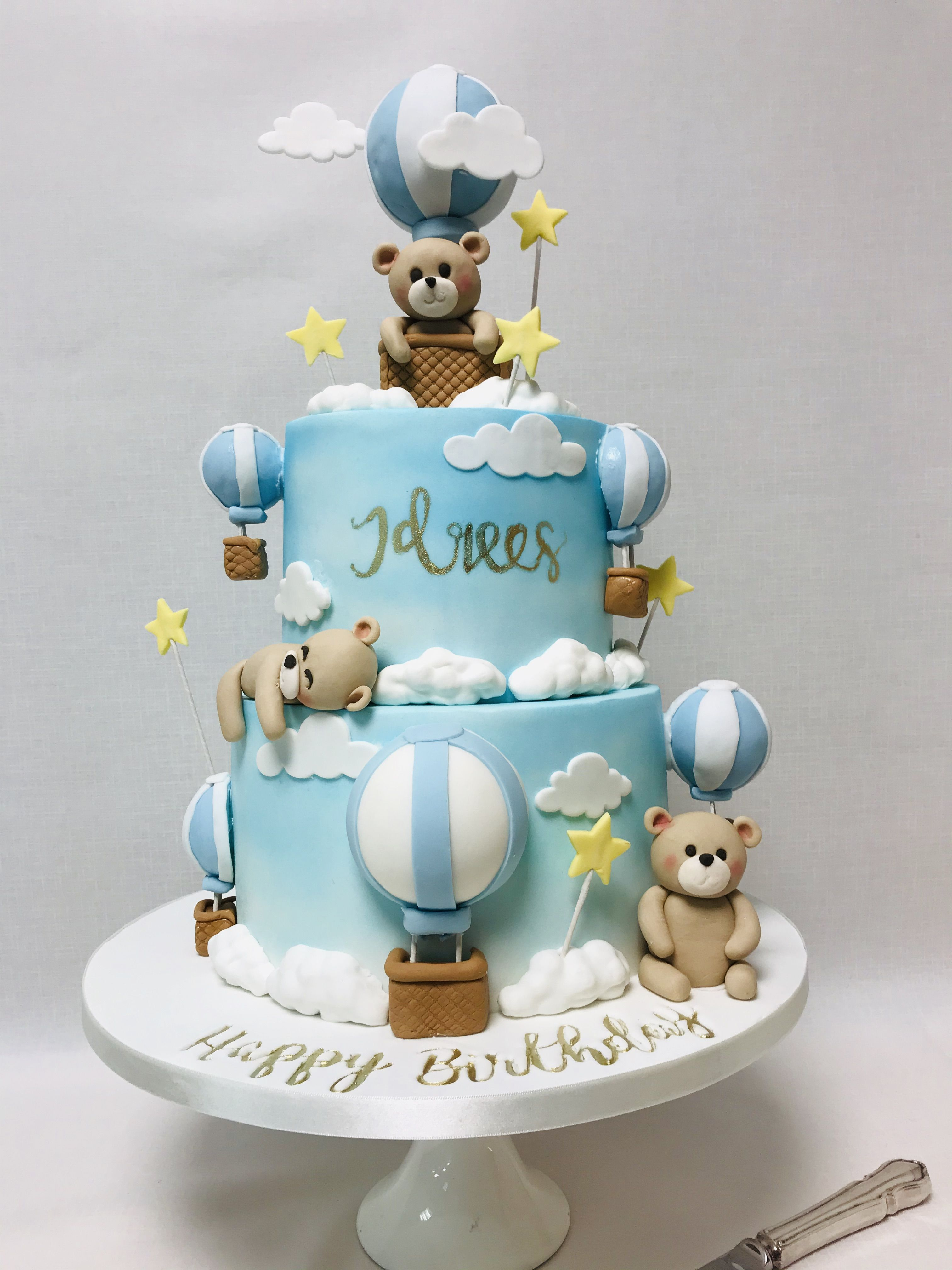Pin On 1st Birthday Cakes Multi Tiered