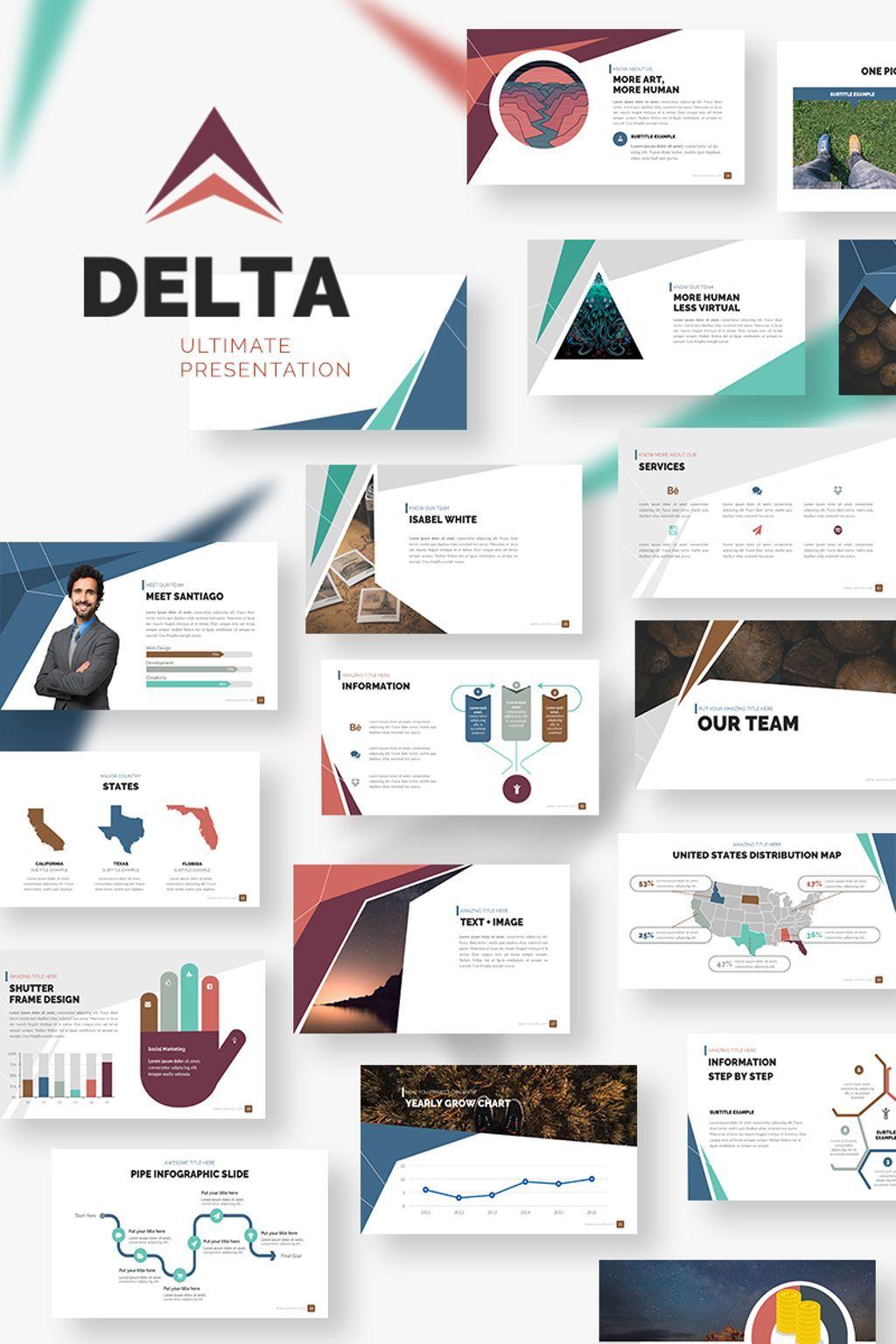 delta presentation powerpoint template backgrounds pinterest