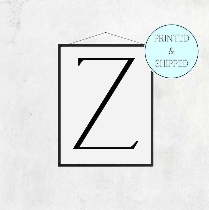 Z Print Letter Z Print Alphabet Print Letter Print Simple   Etsy