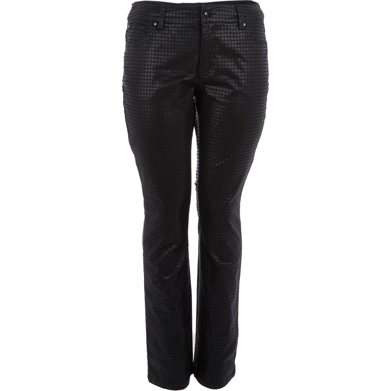 """Sheego"" Black Dogtooth Straight Cut Jeans - TK Maxx"