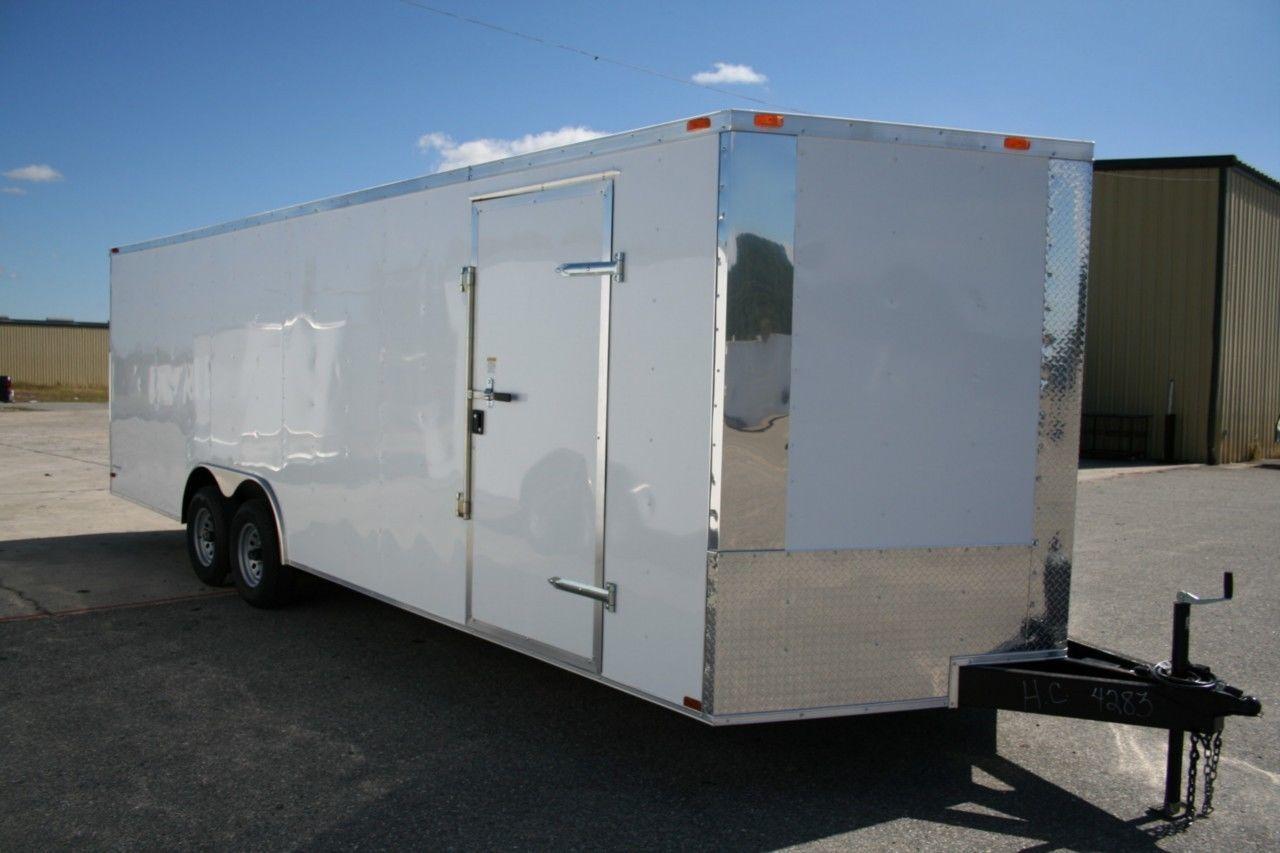 NEW 8.5 X 24 8.5X24 Enclosed Carhauler Trailer W/ VNose