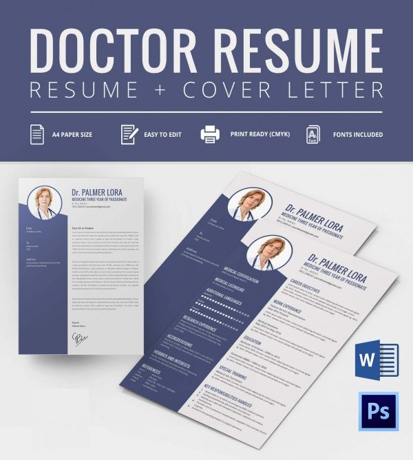 Doctor Resume Template  Mac Resume Template  Great For More