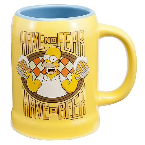 Simpsons Homer Simpson Have No Fear Ceramic Stein Mugs