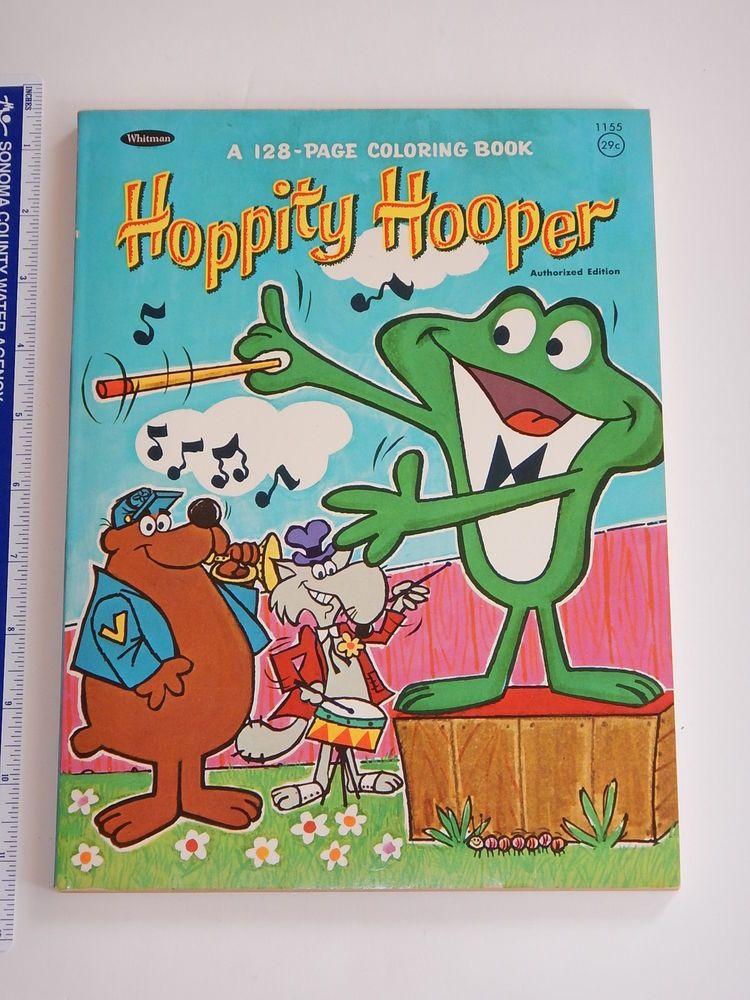 1966 JAY WARD HOPPITY HOOPER WHITMAN COLORING BOOK BULLWINKLE HIGH ...