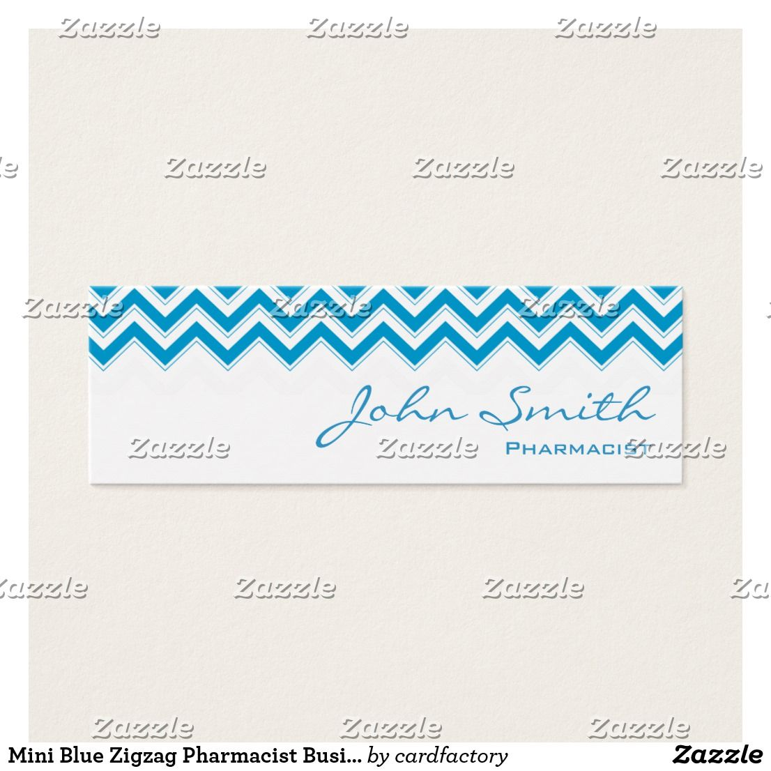 Mini Blue Zigzag Pharmacist Business Card | Pharmacists, Business ...