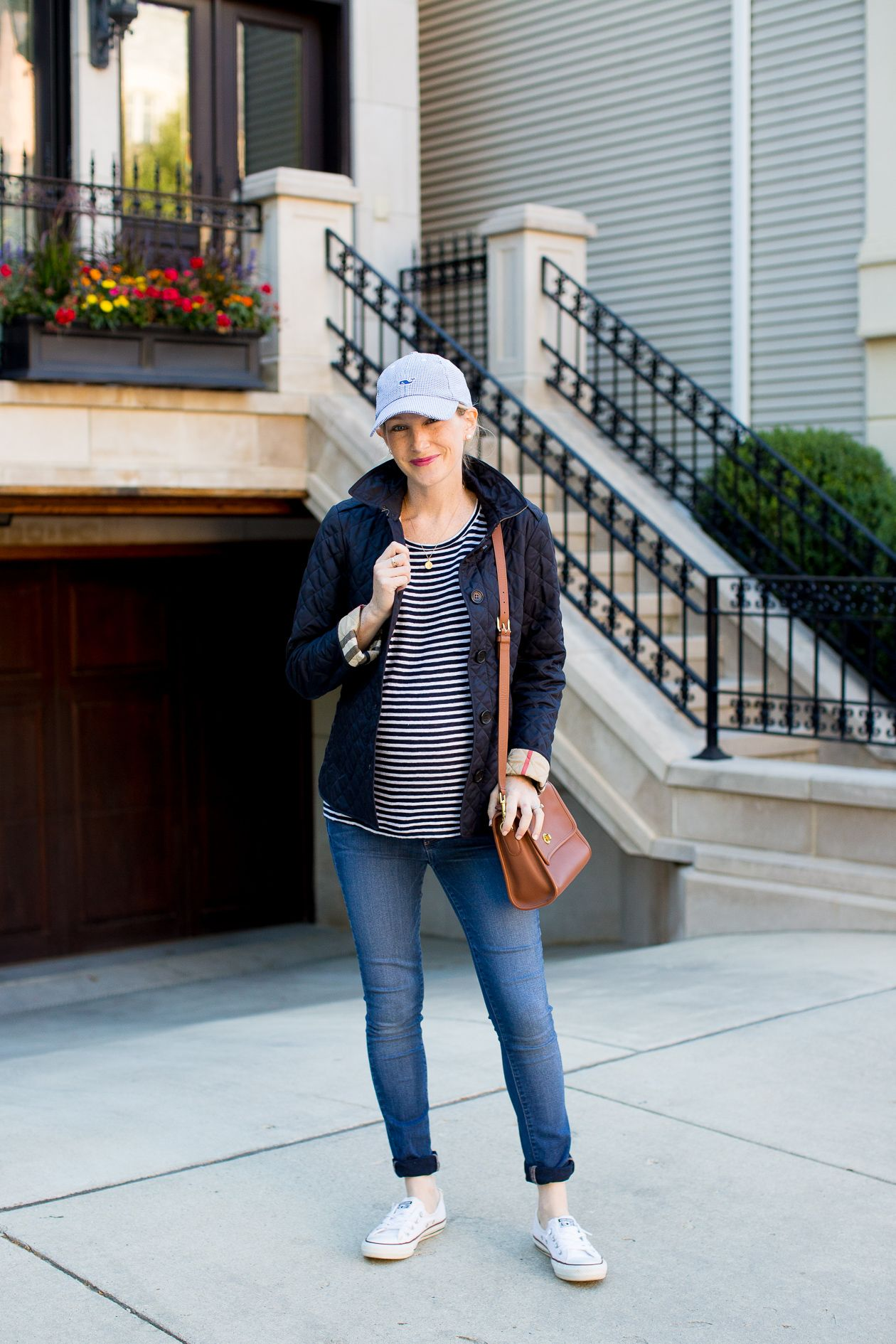 Off To The Ball Game Quilted Jacket Outfit Burberry