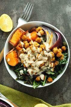 Sweet Potato Chickpea Buddha Bowl (recipe) / by Minimalist Baker