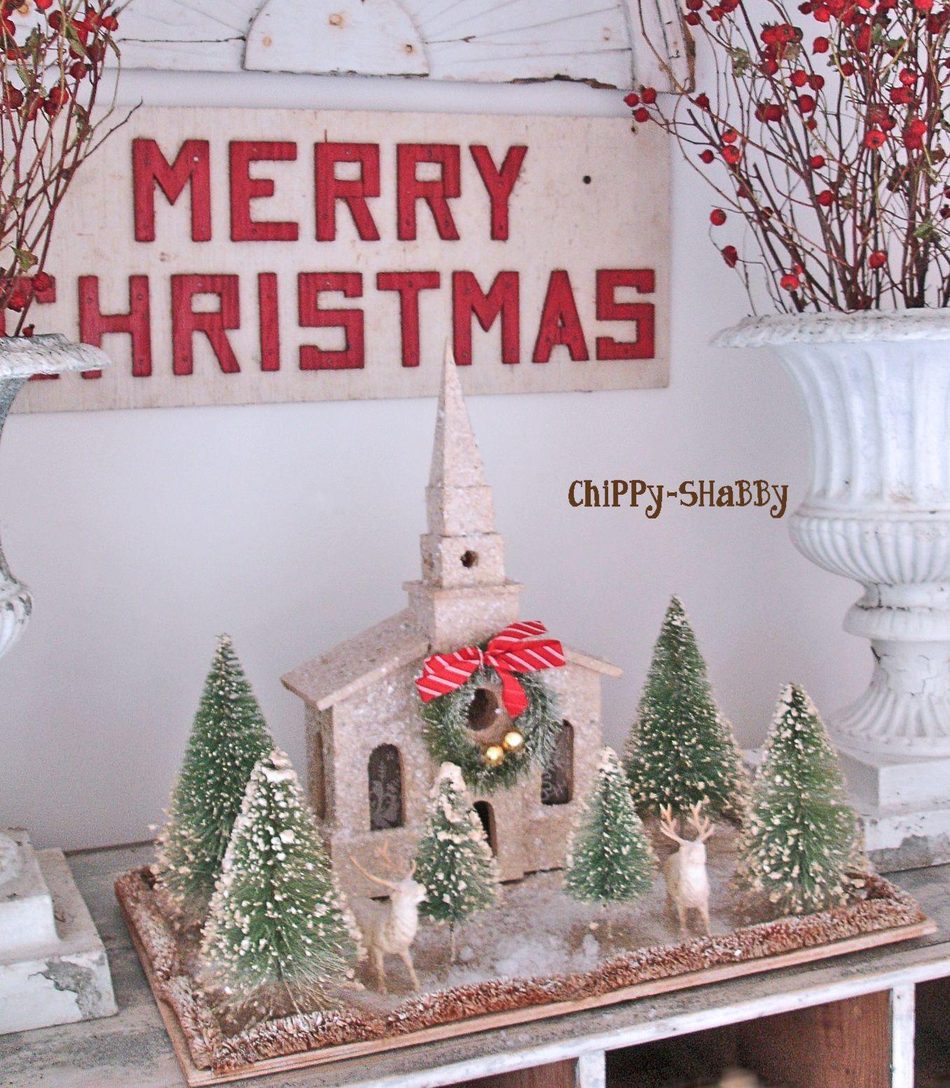 Chippy Shabby+Full+View+Christmas+Church 1,356 1,553