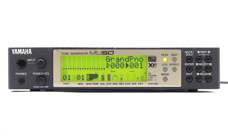 YAMAHA MU50 Tone Generator XG w/ AC100-240V(50/60Hz) Adapter