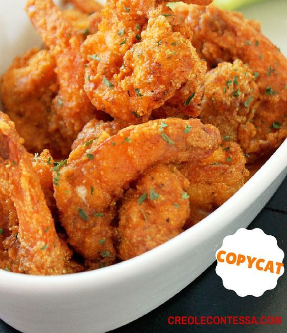 Copycat Hooters Buffalo Shrimp Recipe - RecipeChart.com #buffaloshrimp