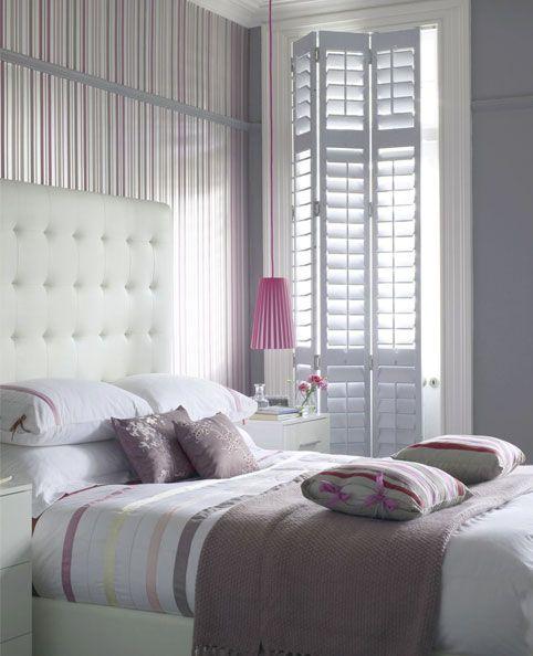 Plantation Shutters In A Bedroom Keep It Dark For Sleeping