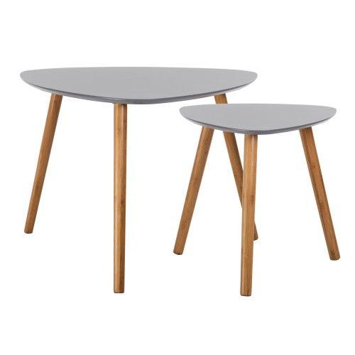 Table Basse Scandinave Grise Lot De 2 Table Basse Table Basse Scandinave Table Basse Ronde