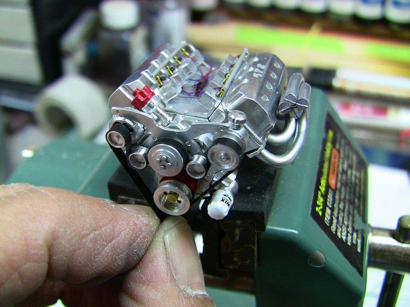Mini Hemi Engine Model Hand Built And Machined Scale Detail